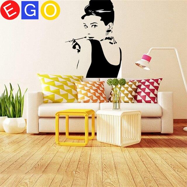 Fashion ideas Hepburn pipe bedroom background removable waterproof ...