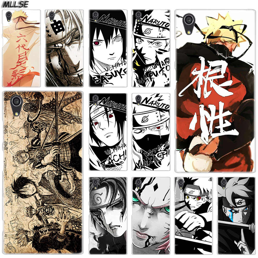 MLLSE Cartoon Sketch Naruto One Piece Case for Sony Xperia M4Aqua M5 E5 X XA XA1 XA2 Plus XA3 XZ XZ1 XZ2 Compact Z5 L1 L2 L3 Hot