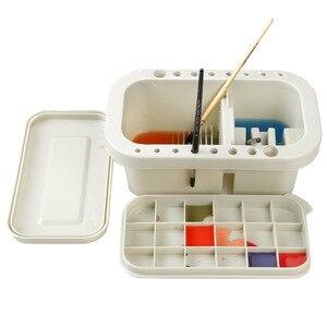 Image 1 - MyLifeUNIT תכליתי צבע מברשת אגן עם מברשת בעל פלטת צבעי מים עט אקריליק שמן מברשת לשטוף עט דלי