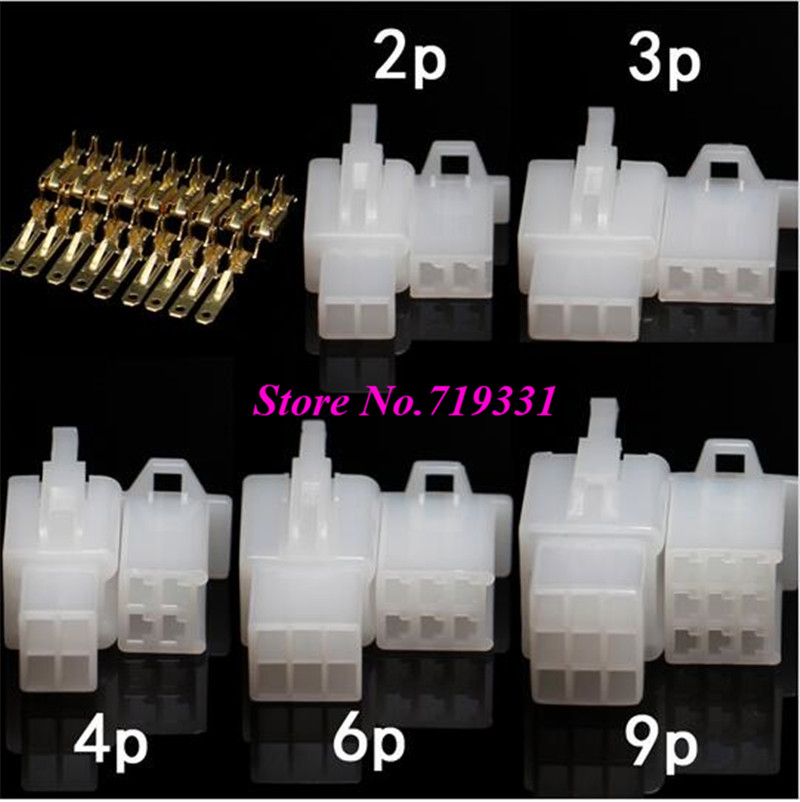 20sets 2.8mm 2/3/4/6/9 pin Automotive 2.8 Electrical wire Connector Male Female cable terminal plug Kits Motorcycle ebike car 1 sets superseal amp 1 2 3 4 5 6 pin female male waterproof electrical wire cable automotive connector car plug