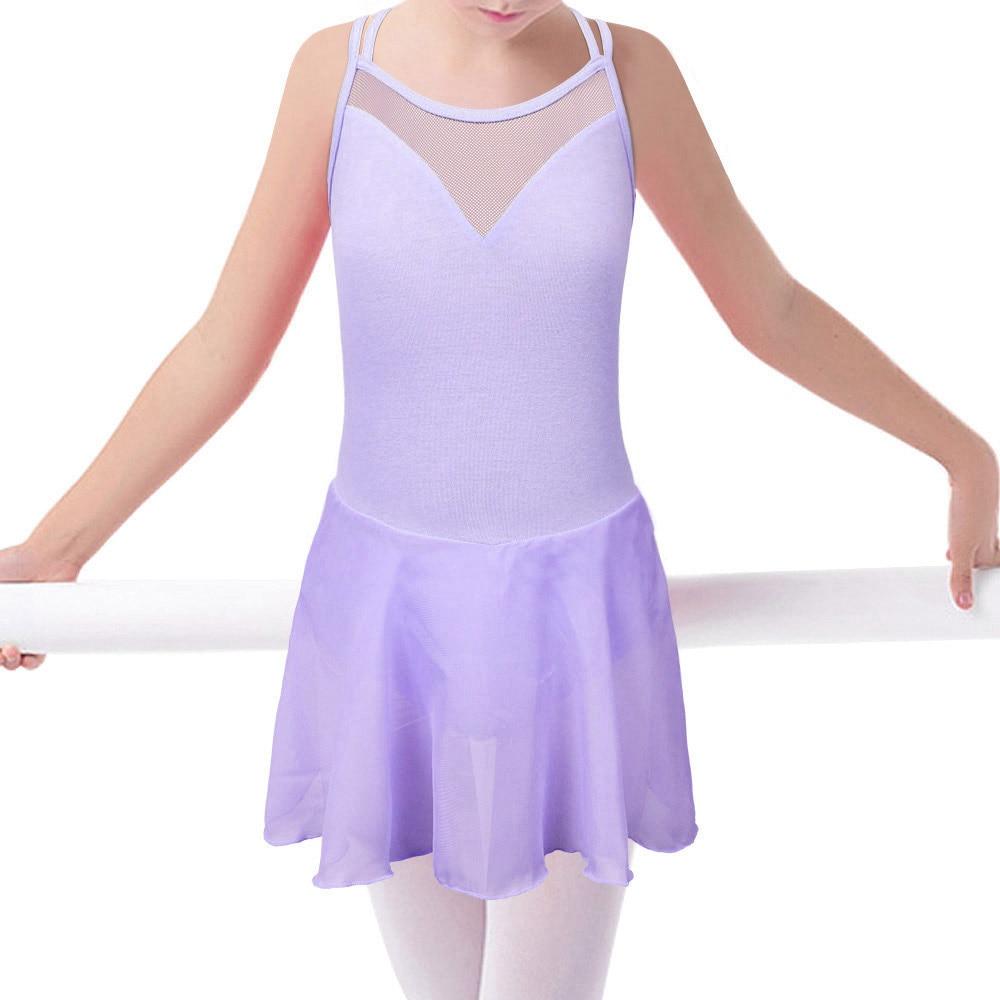 b1ba6e115 BAOHULU Kids Straps Chiffon Skirt Ballet Leotards Gym Dress tutu for ...