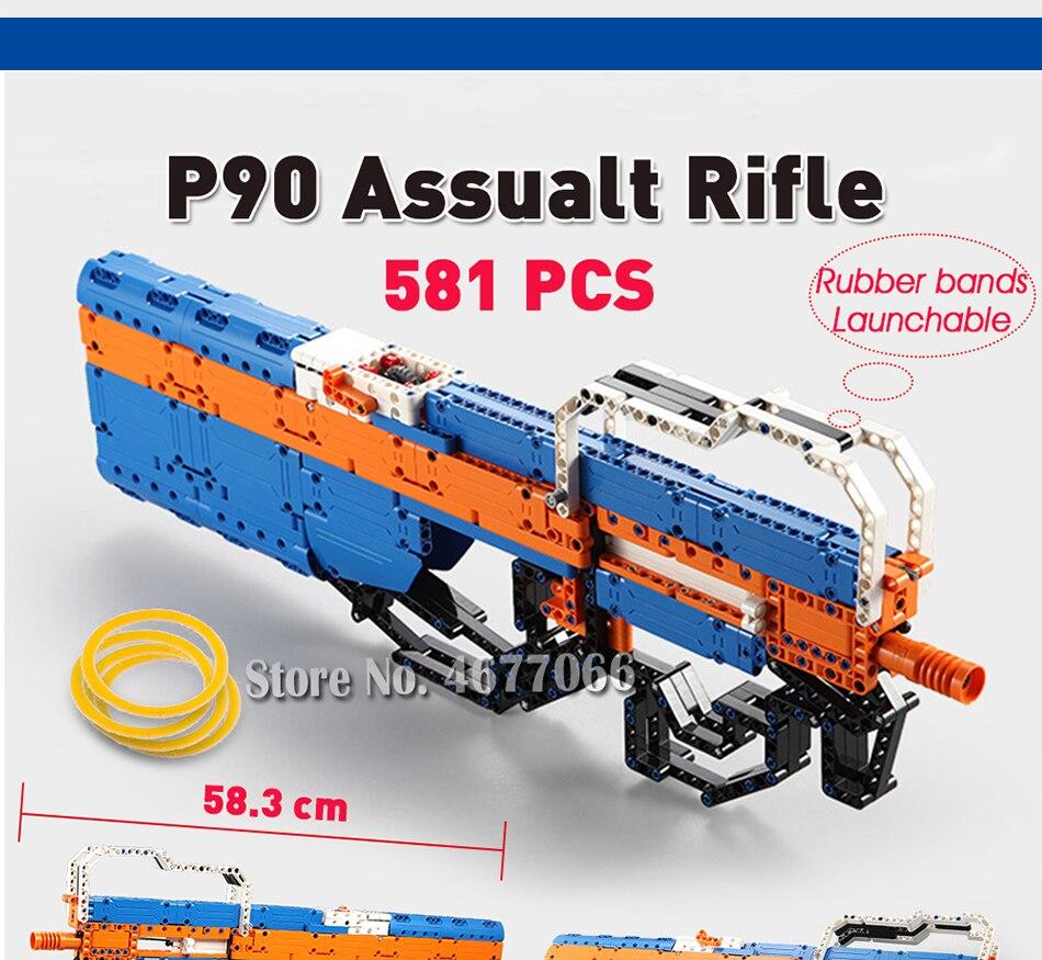 cada building blocks technic gun toy models & building toy gun model 98k bricks educational toys for children ww2 toys for kids 72