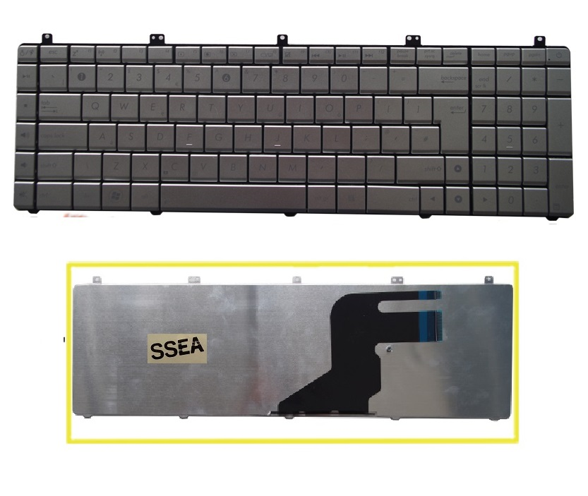 SSEA Brand New UI <font><b>Keyboard</b></font> for <font><b>ASUS</b></font> N55 <font><b>N55S</b></font> N55SF N55SL Silver English <font><b>Keyboard</b></font> free shipping image