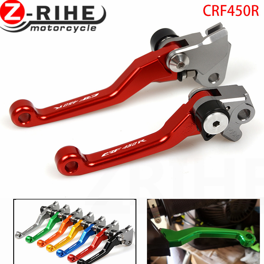 For HONDA XR250/MOTARD CRM250R/AR XR400MOTARD CRF250R 2007-2016 CRF450R 2002-2016 15 RED CNC Pivot Brake Clutch Levers Dirt Bike