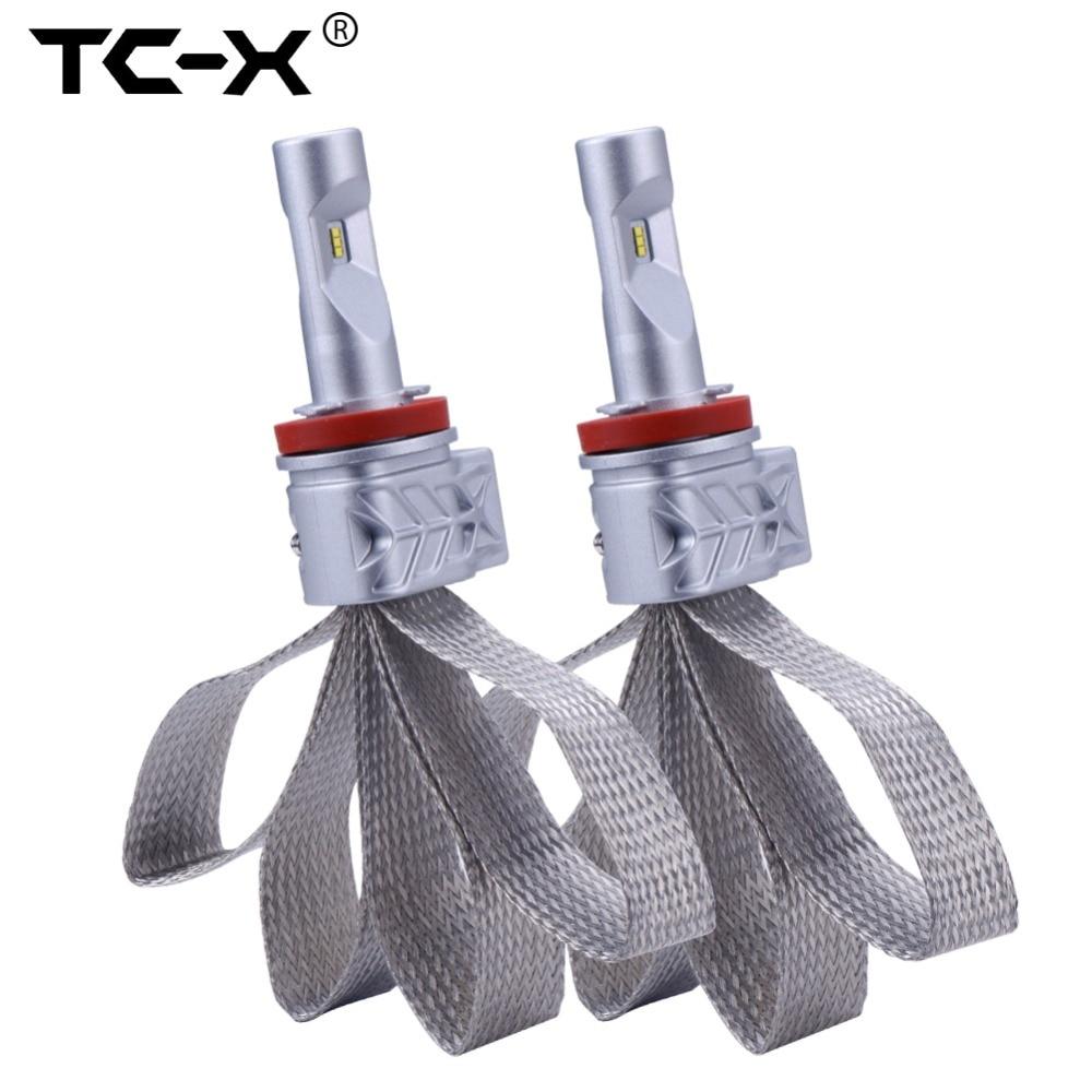 Prix pour TC-X Lumileds LED Ampoules H11 9006/HB4 9005/HB3 H4 Salut/Lo H7 Phare de voiture Kit Plongé Faisceau Principal Faisceau Antibrouillard Remplacer 55 W halogène
