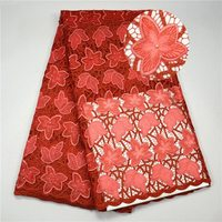 Lovely guipure lace fabric African cord lace fabric high quality embroidered water soluble lace for evening dress SE513