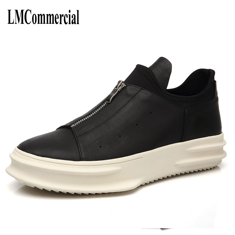 Europe thick soles for men shoes casual boots leather shoes boots British men's leather shoes in male breathable fashion ladies shoes 2018 spring british style multicolor leather shoes square head slope thick soles shoes fashion fit flat shoes