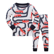 Children Pajama sets Animla kids Pyjamas Boys  Long Sleeve Pijamas For enfant child Cotton Clothes