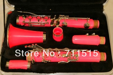 Wholesale manufacturers - 17 key bakelite clarinet in B flat surface pink