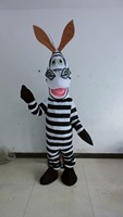 High quality POLE STAR MASCOT COSTUMES white and black horse mascot costumes zebra disguise