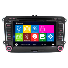 Free Shipping 7 inch 2 Din In dash Car DVD GPS For VW SEAT Skoda Fabia Octavia Superb built-in Can Bus Wince 8.0 Free Map AM/FM