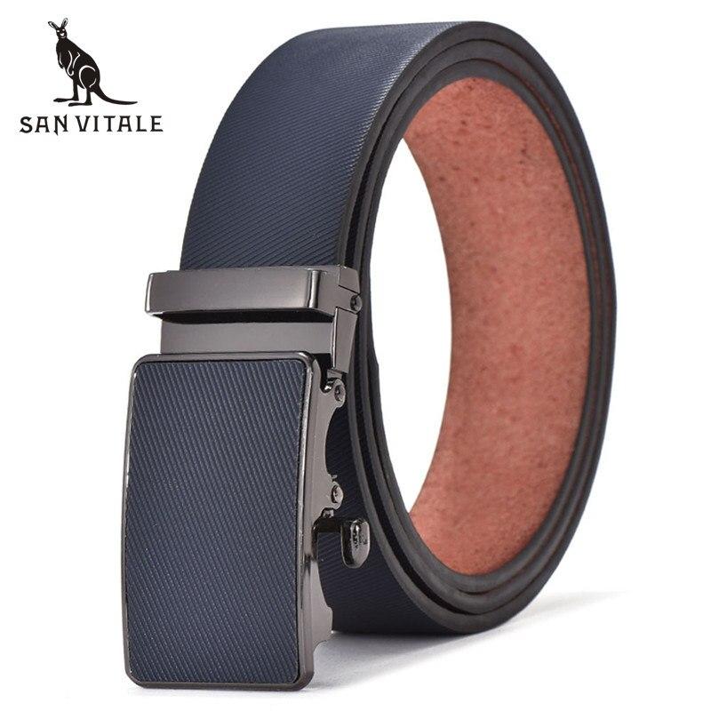 bajo precio 55513 f68b4 € 7.49 30% de DESCUENTO|Cinturones para hombre cinturón de cuero Pu estilo  clásico hebillas delgadas para Jeans para traje de marca de lujo trinquete  ...