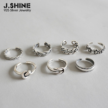 JShine Womens Rings Open Adjustable 925 Sterling Silver Midi Finger Knuckle Ring Retro Flower Toe Chain Beach Foot Jewelry