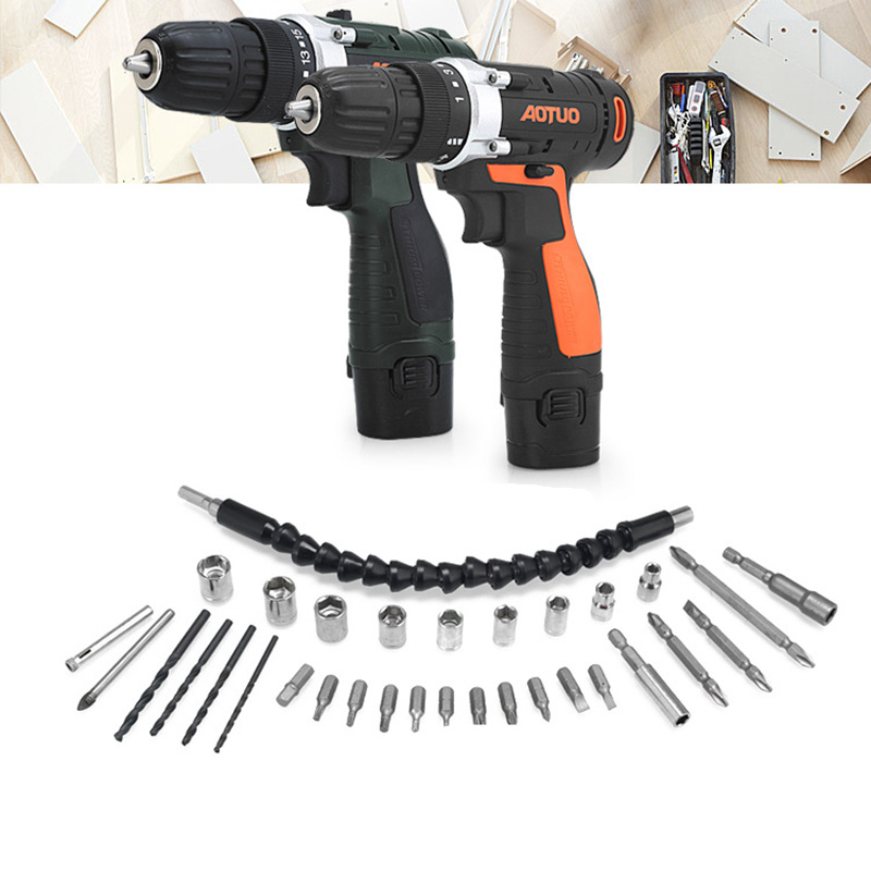 цена на 12V Cordless Drill Electric Batteries Screwdriver Power Tools Mini Drill Drilling Electric Screwdriver household rechargeable