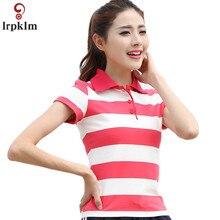 90c3f859804 M-6XL Brand Clothes New Women Short Sleeve Shirt Summer Lady Uniforms  Female Polo Shirt