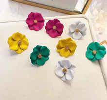 Coloured Earrings Women Exaggerate Super Sensitive Soft Cold Wind 2019 korean earrings