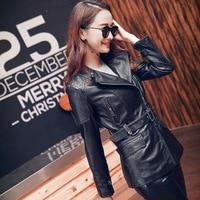 DHL Free Shipping 2018 Fashion 100 Genuine Leather Women Slim Jackets OL Asian Plus Size Female