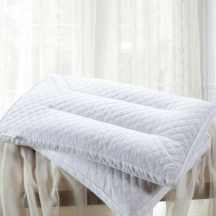 Oreiller de sarrasin oreiller 100% blé dur Oreiller Cou Santé sarrasin surface en coton 40*62 cm simple oreiller