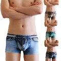 ГОРЯЧИЕ Марка Хлопок Спандекс Шорты Жан Брюки Боксер Sexy Underwear