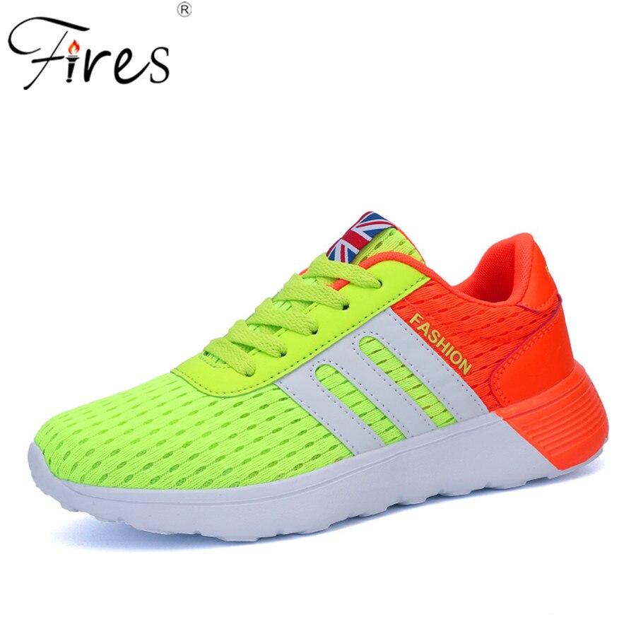 Cojín de aire zapatos corrientes respirables de las mujeres pisos athletic tejer