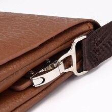 Bilayer Leather Messenger Bag