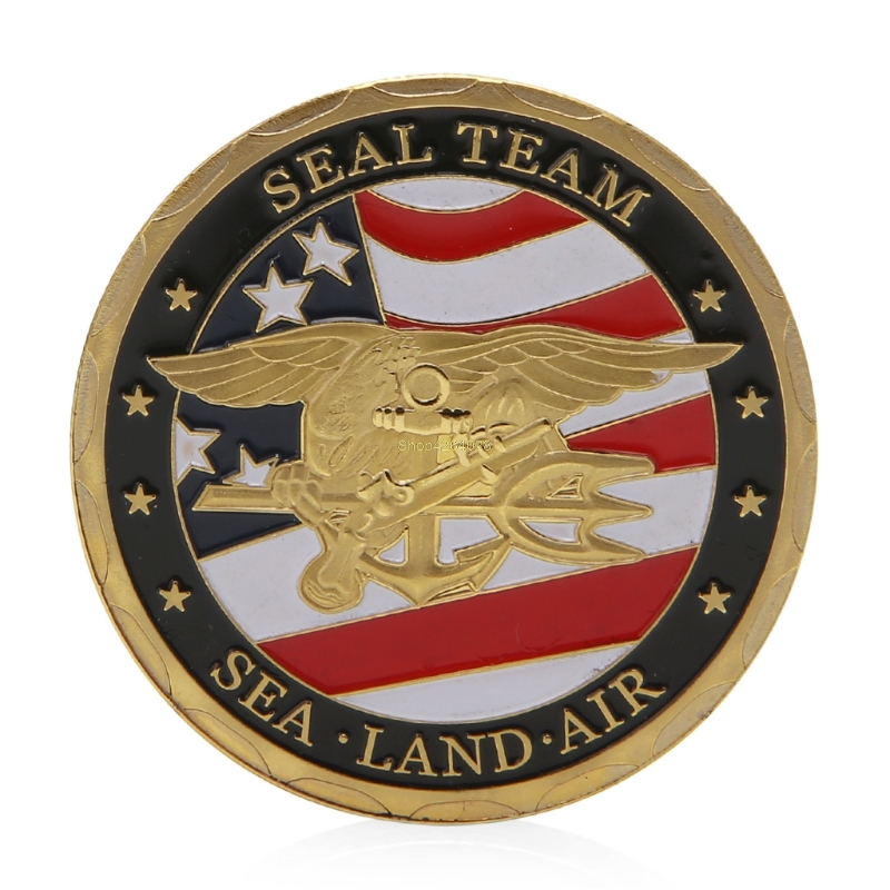 2018 Meaningful Sea Land Air Seal Team Gold Plated Commemorative Challenge Coin Token Art Gift