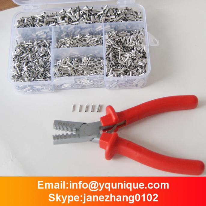 Mixed 5000 Piece Non Insulated Wire Ferrules Kit +0.25-2.5mm2 wire Ferrule Crimper tool free shipping 1000pcs bootlace ferrule kit electrical crimp crimper cord wire end terminal