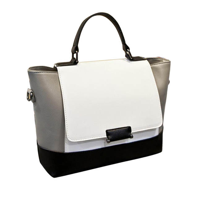 fcbee546f49 Online Shop designer handbags high quality black and white bag fashion  ladies shoulder trapeze bags handbags women s tote bag famous brands