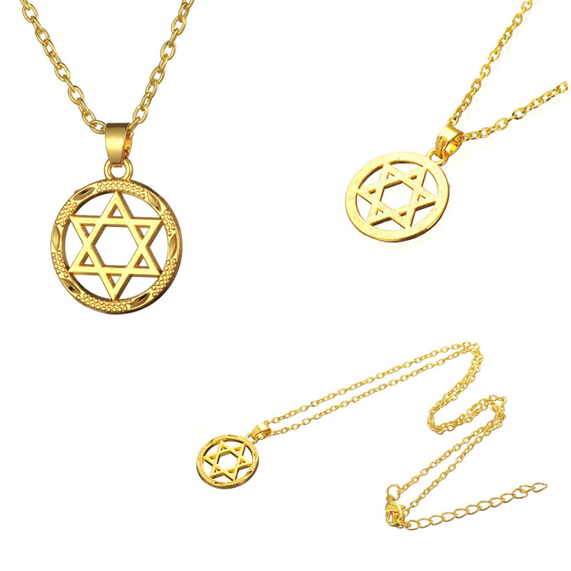 Minimal new style necklace star of david pendant with link for Star of david necklace mens jewelry