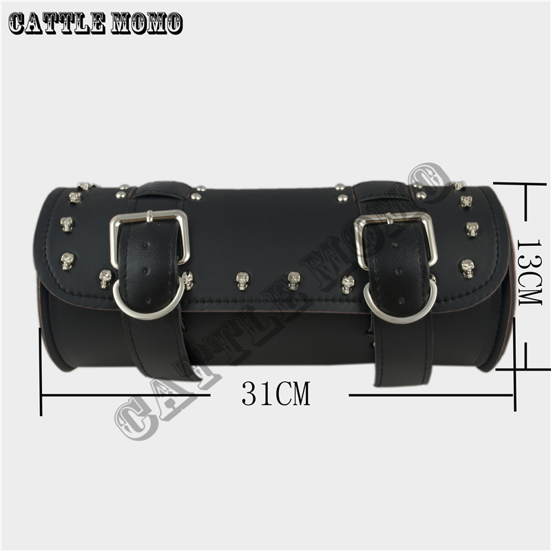 Motorcycle Skull head screw Bag / Prince Cruise / Knight bag / front Toolkit For XL883 1200 Kit/Motorcycle Bag