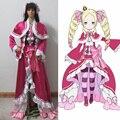 Re: La Vida en un mundo distinto de cero Beatrice Cosplay Disfraces Pink Gothic Lolita de Halloween Vestidos Para Niña
