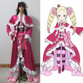 Re:Life in a different world from zero Beatrice Cosplay Costumes Pink Lolita Gothic Halloween Dresses For Girl