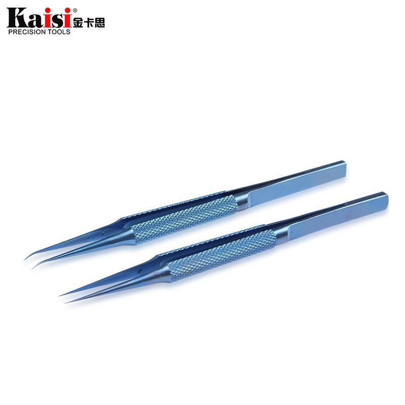 Aleación de titanio pinzas de mantenimiento profesional de la herramienta 0,15mm de borde de huellas dactilares pinzas Apple placa principal de alambre de cobre alambre