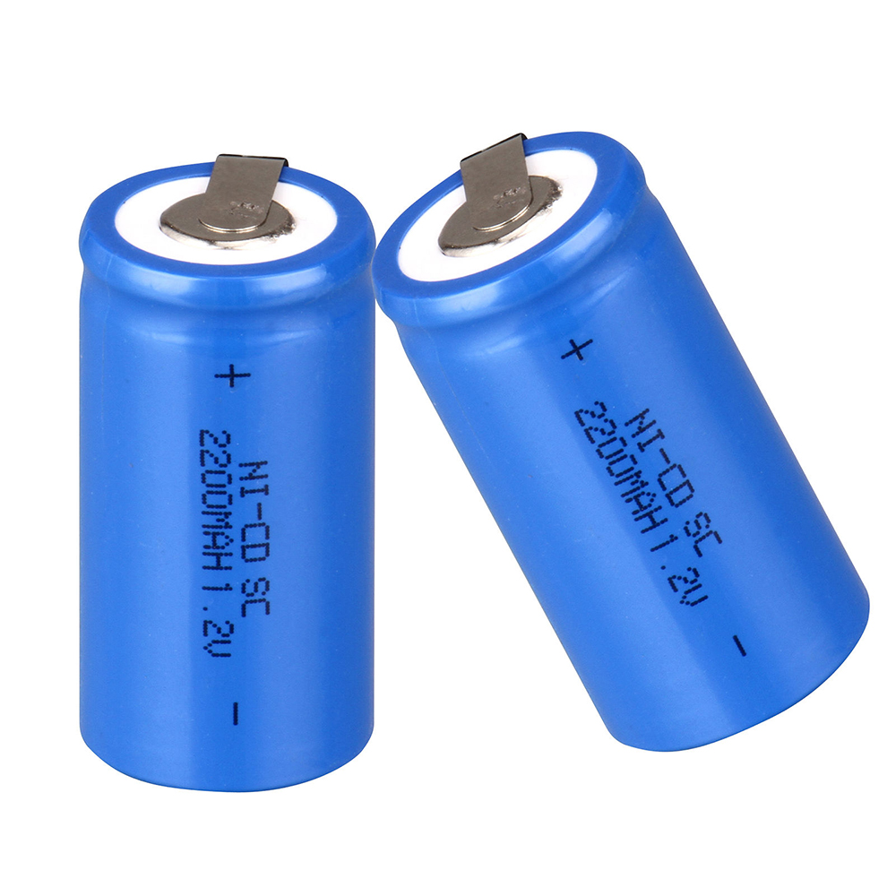 1pc Sub C SC Ni-CD Battery 22*42mm 1.2V 2200mAh Rechargeable NI-CD Batteries With Protector Board For Electronic Tools 2016 popular blue color 8 pcs a set ni cd 4 5 subc sub c 1 2v 2200mah rechargeable battery with tab blue