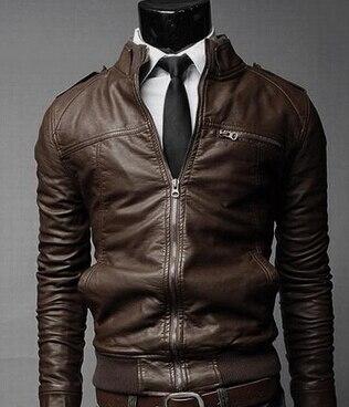 Dark Brown Leather Jackets For Men - Jacket