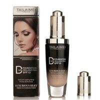 Основа для лица естественный блеск крем продолжительного действия солнцезащитный Блок SPF15 Отбеливание лица жидкий крем-основа макияж