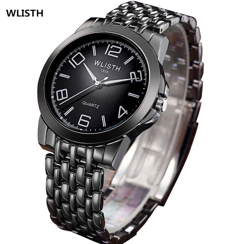 все цены на WLISTH Fashion Men Watch Quartz Watch Watchband Stainless Steel Wristwatch Simple Dial Business Man Water-proof Watches FD1352 онлайн