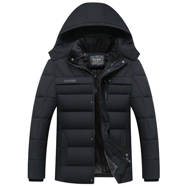 Special Offers Parka Men Coats 2018 Winter Jacket Men Thicken Hooded Waterproof Outwear Warm Coat Fathers' Clothing Casual Men's Overcoat
