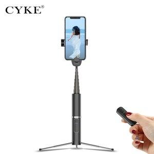 Image 2 - CYKE 미니 핸드 헬드 무선 블루투스 Selfie 스틱 3 1 원격 제어 셔터 Selfie 스틱 독립적 인 삼각대 텔레스코픽 막대