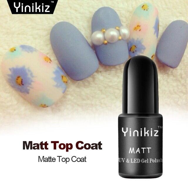 Online Shop Yinikiz Matte Top Coat Gel Varnish for Super Matt Black ...