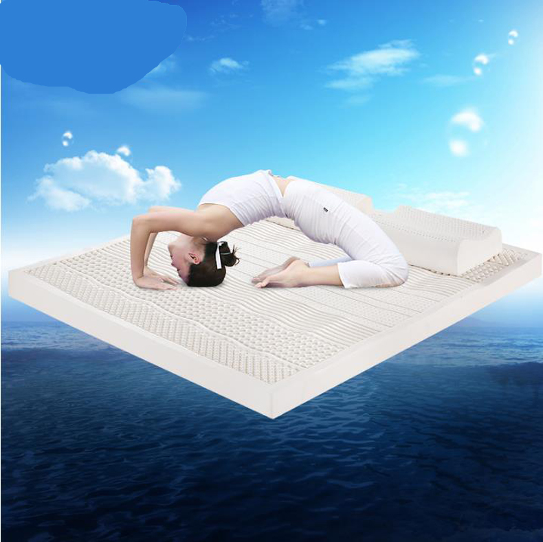 Thailand import natural latex mattresses spinal massage mattress 1.5 m / 1.8 m bed/160810 100% thai natural latex mattress soft sleeping bed mattresses single double thick memory effect mat