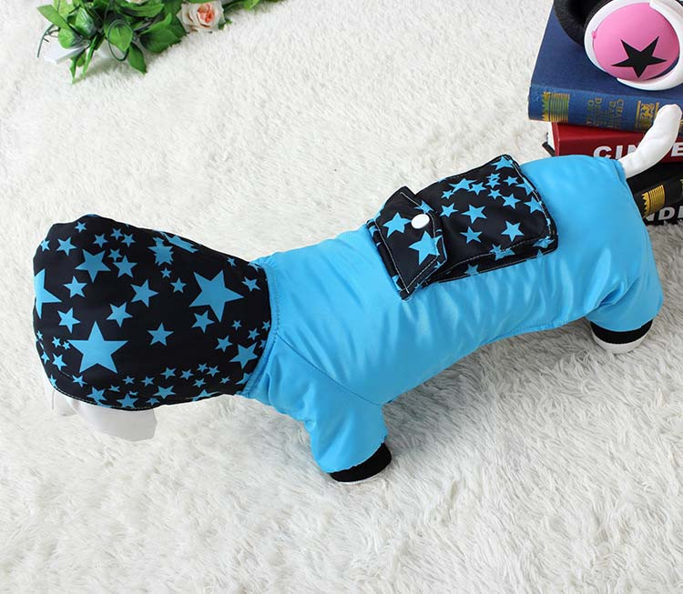 Waterproof Fashion Pet Clothes Large pocket Thick Pet Jumpsuit Coat With Hooded Windproof Winter Outdoor Cotton Pet Apparel XS-XXL8