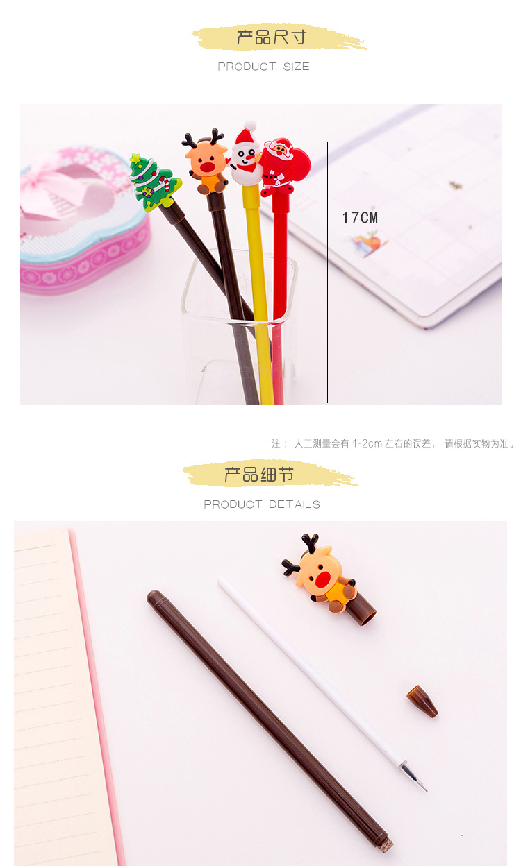 natal caneta neutra para escrever estudante escritorio 05