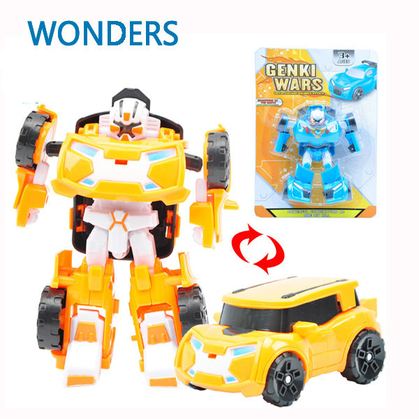 transformation robot car educational learning model building kits plastic transform toy kids gift