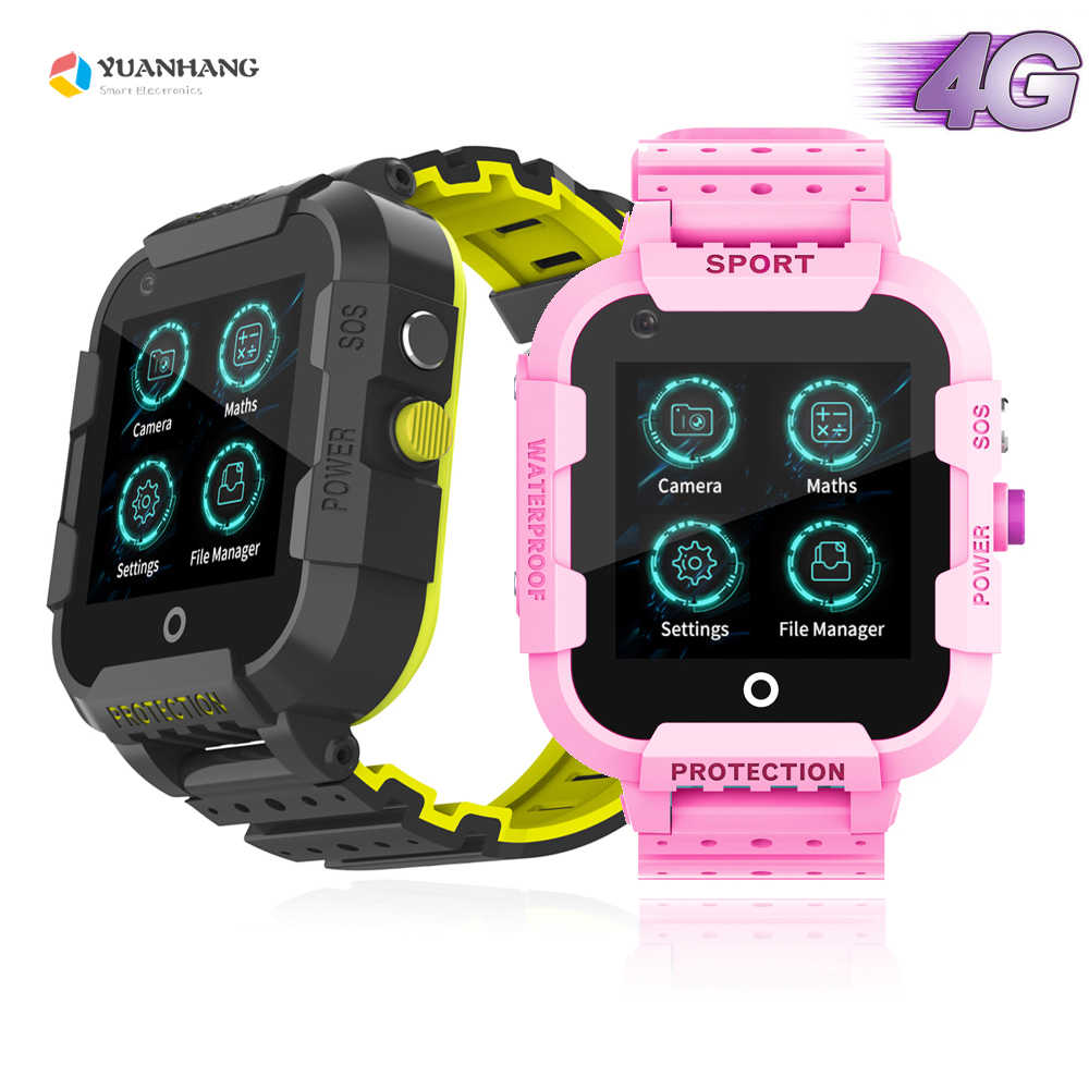 IPX7 Waterproof Smart 4G Remote Camera GPS WI-FI Child Student Smartwatch SOS Video Call Monitor Tracker Location Phone Watch