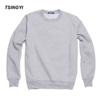 Tsingyi Autumn Pullover Solid Men S Hoodies O Neck Thin Style Terry S 3XL 12 Colors