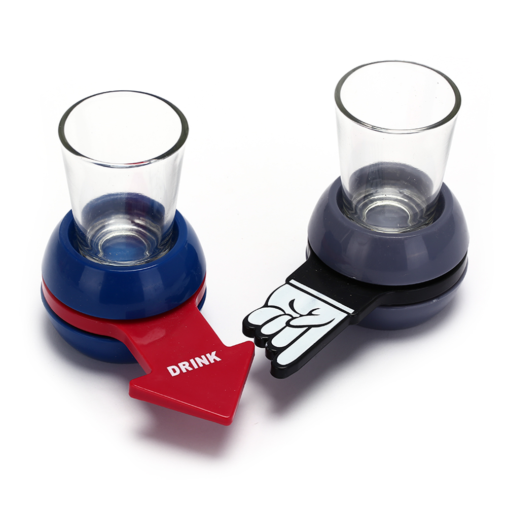 1x Spinning Wheel 1x Shot Glass Funny Spinner Spin The Shot