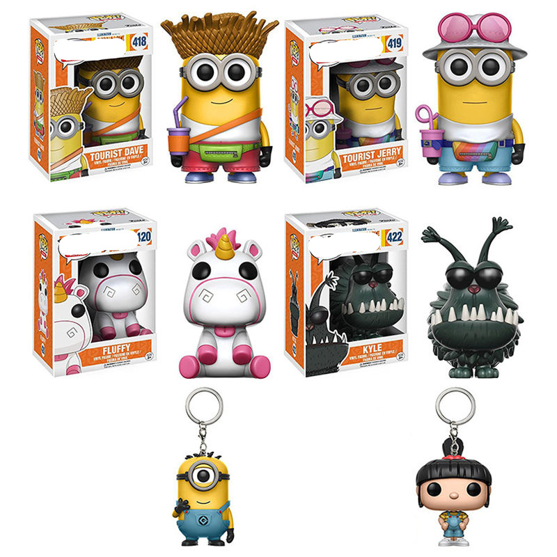 Funko pop Minions decoration Unicorn Fluffy action figures Small cartoon hand-done boy toys for kids gift