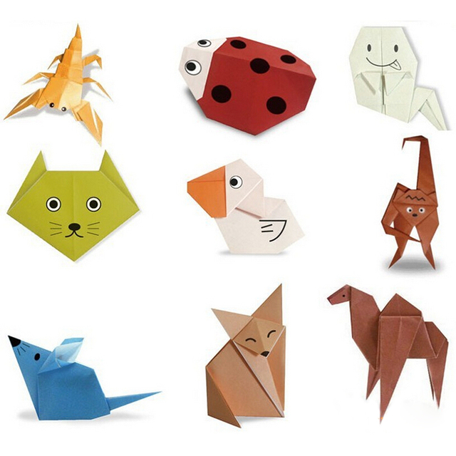 100 Sheet Origami Paper Diy Handmade Toys Animal Puzzle Crafts For