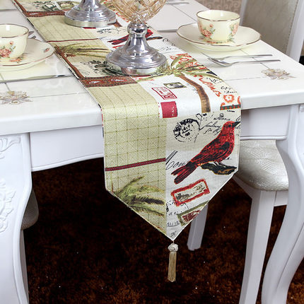 Double sided Fashion modern Home American Mediterranean country table runner Table flag and Placemat Tea table flag